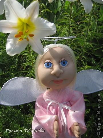 попросили сделать ангелочка-девочку и непременно в розовом платьице! фото 1