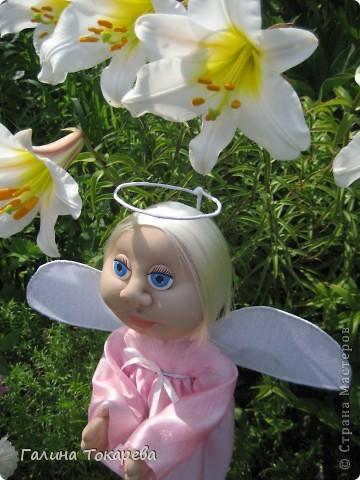 попросили сделать ангелочка-девочку и непременно в розовом платьице! фото 5