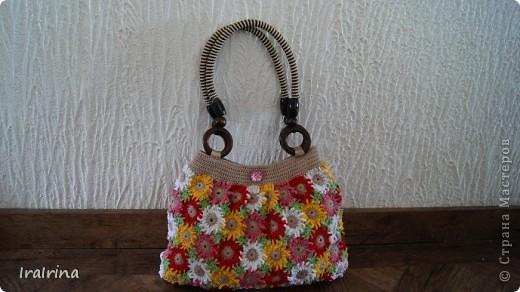 Связала еще одну сумочку для себя. Сумочку увидела на этом сайте http://www.liveinternet.ru/users/4355338/rubric/2164017/page3.html Но ничего не поняла, поэтому вязала по другому, может кому пригодится и мой вариант. фото 22