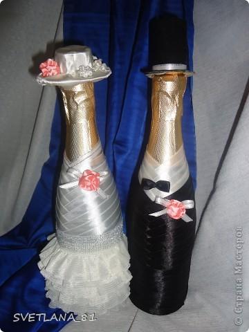 К бокалам сделала бутылочки и казну фото 3