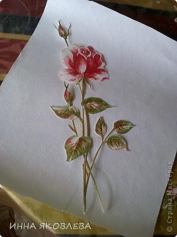 3D  роза из обоев.  фото 3