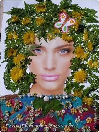 Лучшее время для природных  поделок - лето и осень. Возьмите для работы: листья и цветы, веточки и траву, соломку, камушки, семена и многое другое.  При изготовлении поделок используются и дополнительные материалы: бумага, картон, пластилин, проволока, клей, бусины, пуговицы, крупа и т.д.  А у нас с ребятами получилось вот так!!!  Котик на заборе /цветы клевера, листья, камушки/ фото 13