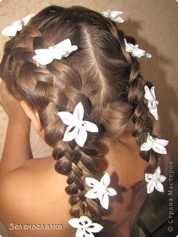 Шпильки для волос. Канзаши фото 1