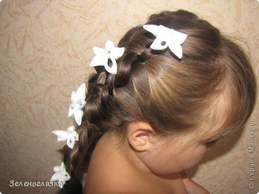 Шпильки для волос. Канзаши фото 2