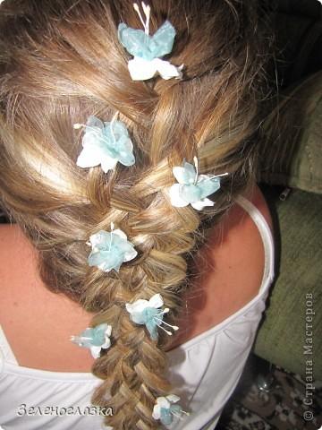 Шпильки для волос. Канзаши фото 3