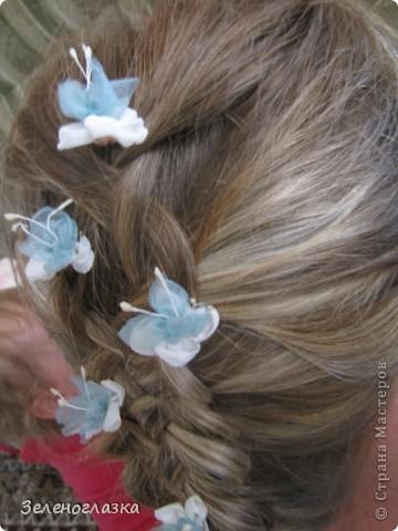 Шпильки для волос. Канзаши фото 4