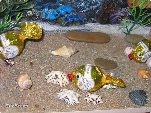 Добрый день! Кто хочет аквариум с рыбками, но не может себе позволить этого-сделайте сладкую альтернативу! И полюбоваться можно и съесть рыбок потом, даже не приготовив их! фото 6