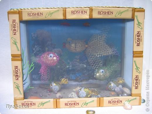 Добрый день! Кто хочет аквариум с рыбками, но не может себе позволить этого-сделайте сладкую альтернативу! И полюбоваться можно и съесть рыбок потом, даже не приготовив их! фото 1