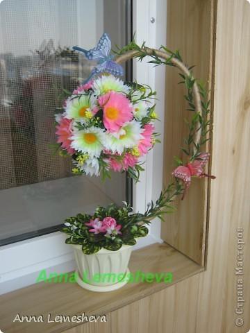 Всем доброго дня... Вот такое деревце у меня получилось благодаря мастер классу  Елены (lencha)  большое вам спасибо за идею!!!