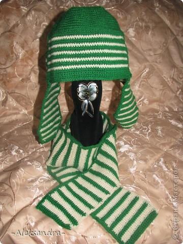 Шапочка и шарф-спиралька фото 3
