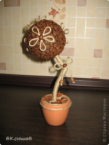 Всем привет! Вот снова кофейное дерево! Что то в последнее время как то затянули кофейные деревца!!!! Хочется делать и делать!!!!  фото 1