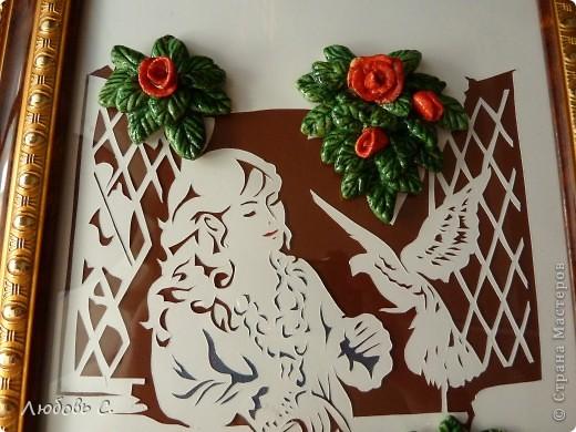 Работа сделана  совместно с мастерицей Ксенией С. в подарок начальнице. Моя вырезалка, ее - соленое тесто. Подарок очень понравился. фото 2