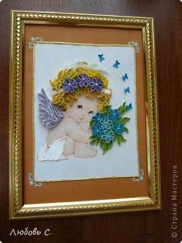 Картина делалась в подарок на крещение. Очень понравился процесс.  На работу вдохновили ангелочки Феечки.  фото 1