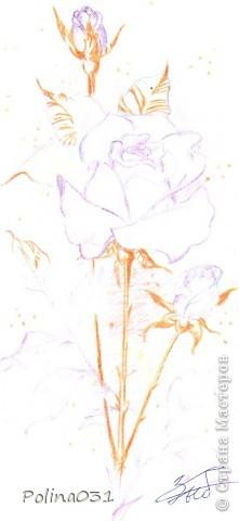 Это первый мой эскиз (я его срисовала с журнала). фото 4