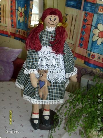 Это моя первая кукла, не судите строго.  фото 1