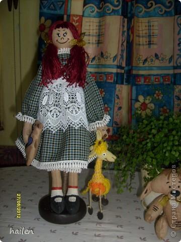 Это моя первая кукла, не судите строго.  фото 2