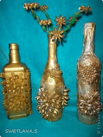 Макаронами украсила бутылочки на подарки!!! фото 14