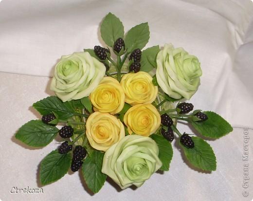 Розы с ежевикой. фото 2