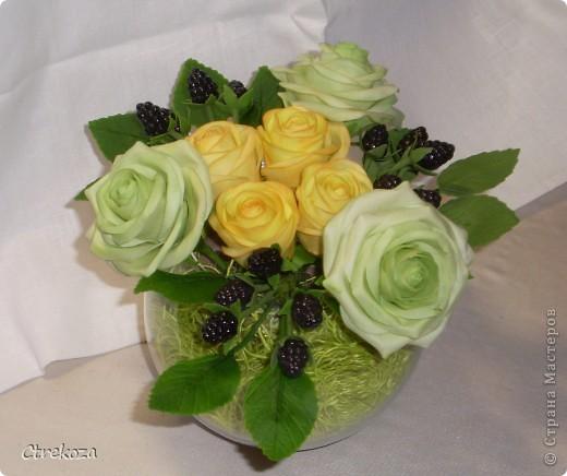 Розы с ежевикой. фото 3