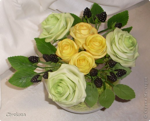 Розы с ежевикой. фото 4