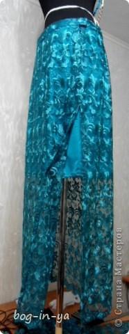 """Вот такая юбка """"в пол"""" будет отдана сегодня заказчице. Нижняя юбка, по желанию клиентки, выше колен. фото 2"""
