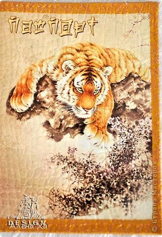 Встречайте - мои первые обложечки на коже ))) Распечатки, акриловые краски, контур, лак. фото 3