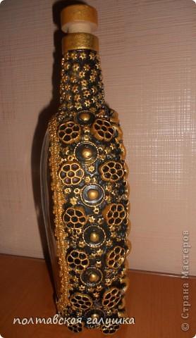 Спрятала в бутылку какую-то богиню, но какую-видно плохо))) фото 3