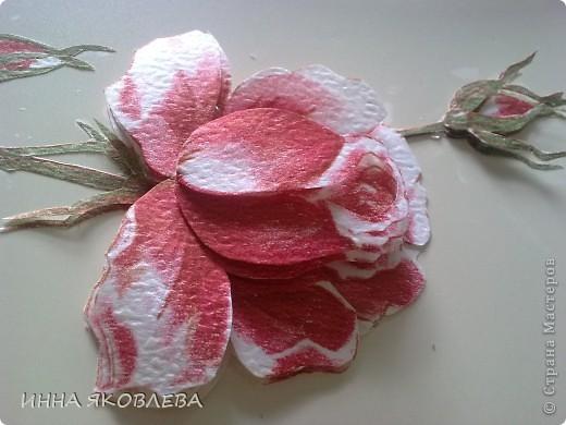 3D  роза из обоев.  фото 5