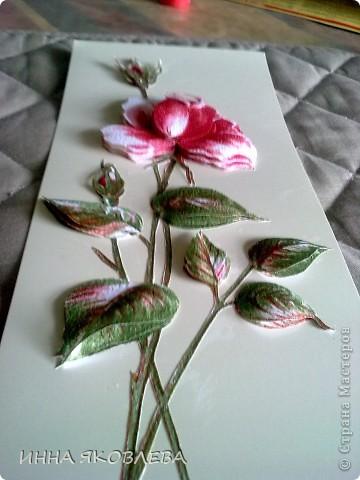3D  роза из обоев.  фото 7