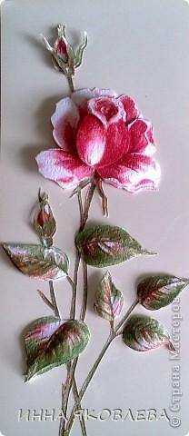 3D  роза из обоев.  фото 1