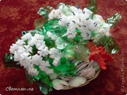 Нашла пенопласт очень похожий на цветочки и у меня получился такой букет. фото 1