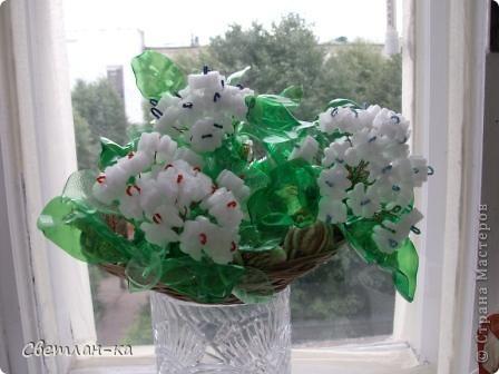Нашла пенопласт очень похожий на цветочки и у меня получился такой букет. фото 7
