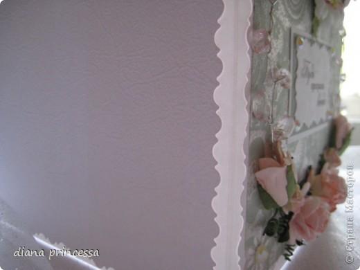 открытка бирюзовая с палевыми цветами фото 2
