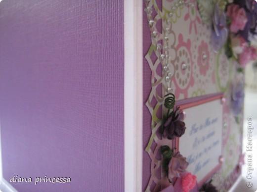 сиреневая открытка с большим цветком фото 2
