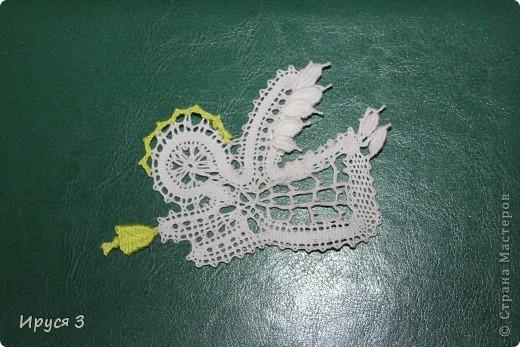 Ангелочка сплела на 14 коклюшках -)))  фото 1