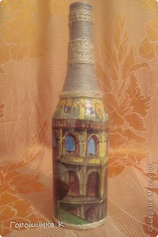 Декор бутылки фото 2