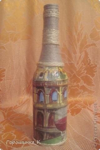 Декор бутылки фото 3