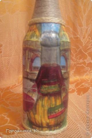 Декор бутылки фото 4