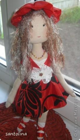 Ушла в кукольный мир, не могу остановиться:)) Теперь это мое новое хобби!Попросили сделать на подарок куколки и вот что получилось! Куколка Алиса 30см. фото 2