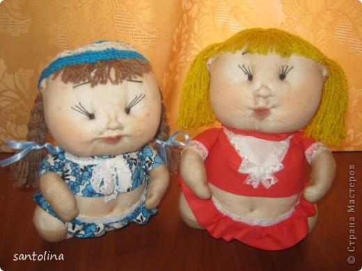 Воодушевленная работой многих мастеров здесь на сайте  у меня получились вот такие пупсы-куколки!Мои первые работы,так что не судите строго )): фото 1
