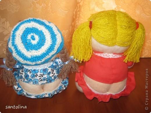 Воодушевленная работой многих мастеров здесь на сайте  у меня получились вот такие пупсы-куколки!Мои первые работы,так что не судите строго )): фото 2
