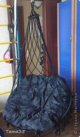 На кресло ушло 400 метров полиэфирного шнура 4,5 мм толщиной. фото 1