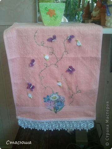 Бабочки на полотенце фото 1