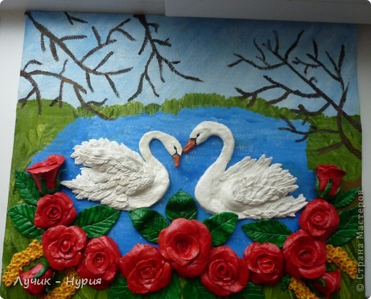 Вот такая картина у меня получилась, по МК  замечательной мастерицы - Тани Вишенки. Ее мастер класс - можно найти здесь: http://stranamasterov.ru/node/64565 фото 4