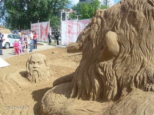 """В июне этого года мы с семьей побывали на фестивале """"Белые ночи"""" в Перми. Предлагаю вашему вниманию серию фотографий с изображением песчаных скульптур. фото 9"""