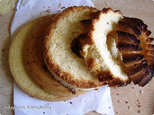 Решили с дочкой попробовать свои силы в изготовлении такого тортика.... Судить вам......    фото 2