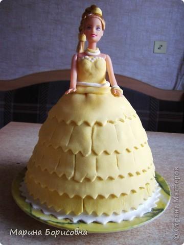 Решили с дочкой попробовать свои силы в изготовлении такого тортика.... Судить вам......    фото 1