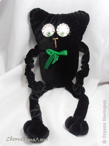 Говорят , не повезет , если черный кот дорогу перейдет......а пока.....а пока ...а пока.......родился у меня вот такой Котеныч по совместному пошиву......   http://stranamasterov.ru/node/381872?c=new   фото 1