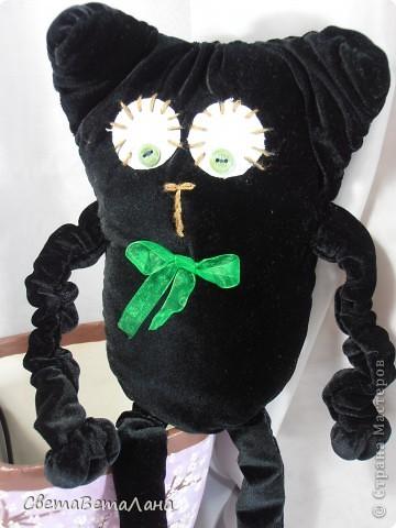 Говорят , не повезет , если черный кот дорогу перейдет......а пока.....а пока ...а пока.......родился у меня вот такой Котеныч по совместному пошиву......   http://stranamasterov.ru/node/381872?c=new   фото 3