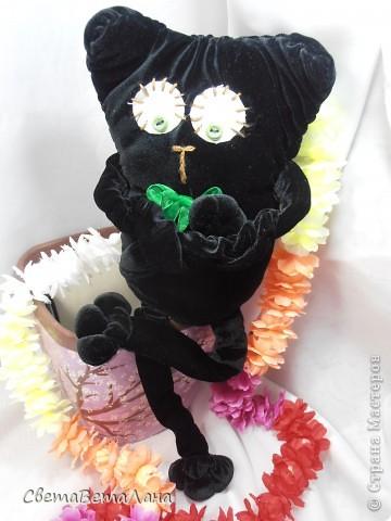 Говорят , не повезет , если черный кот дорогу перейдет......а пока.....а пока ...а пока.......родился у меня вот такой Котеныч по совместному пошиву......   http://stranamasterov.ru/node/381872?c=new   фото 4